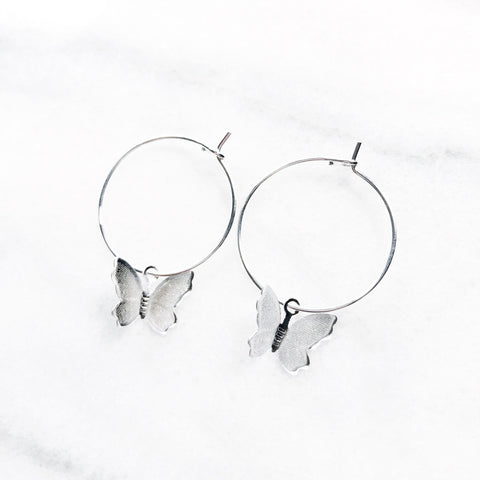 Mariposa Butterfly Hoops - Sun & Co.