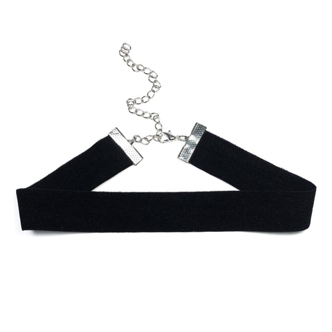 Black Elastic Choker - Sun & Co.