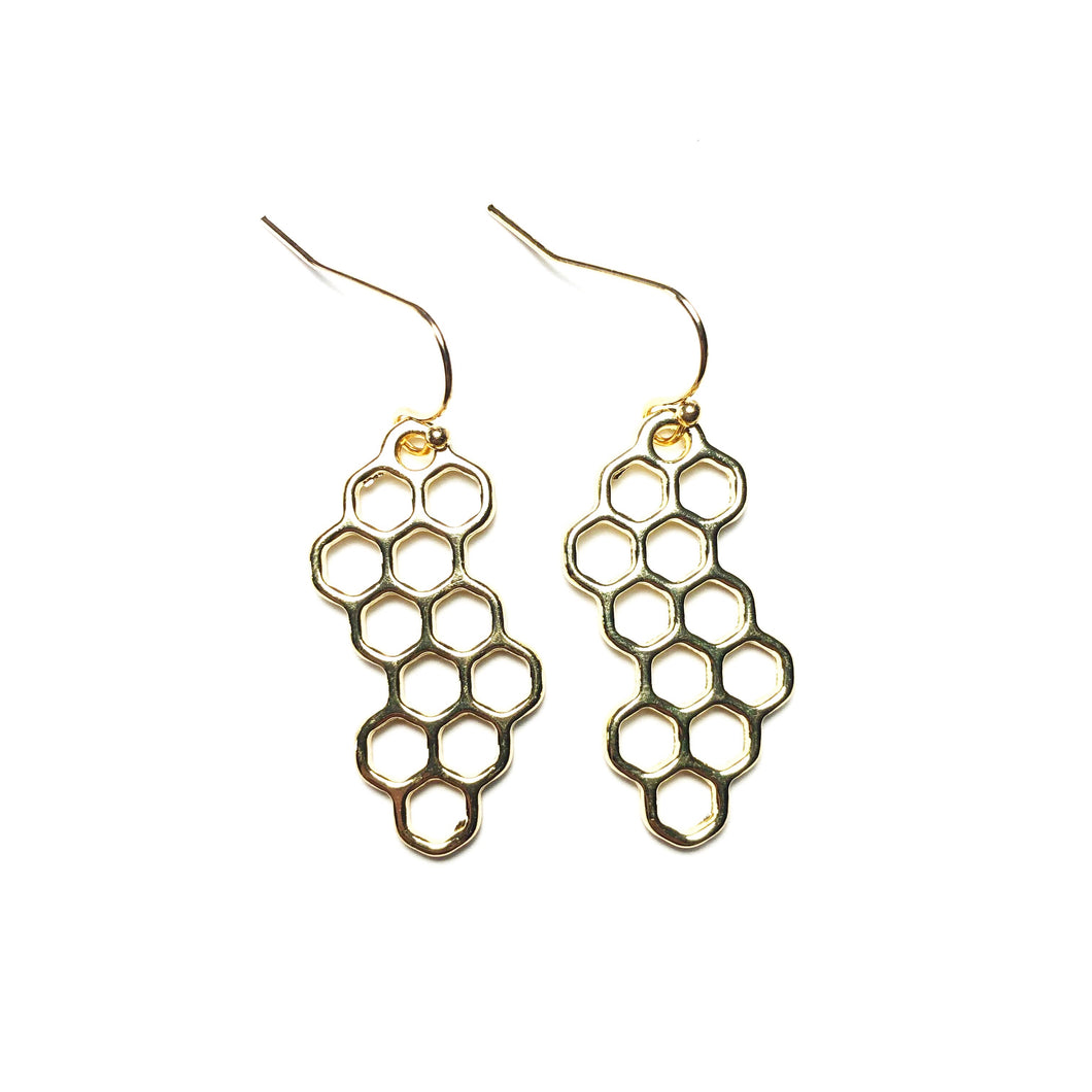 Honeycomb Earrings - Sun & Co.