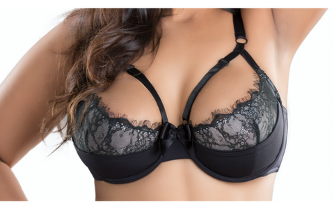 Eyelash Lace Detail Bra with Underwire