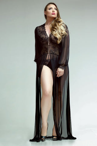 Premiere Lana Lace Floor Length Dressing Gown