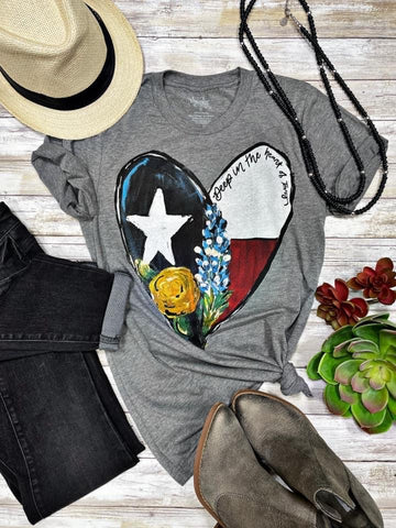 Callie's Texas Heart Tee