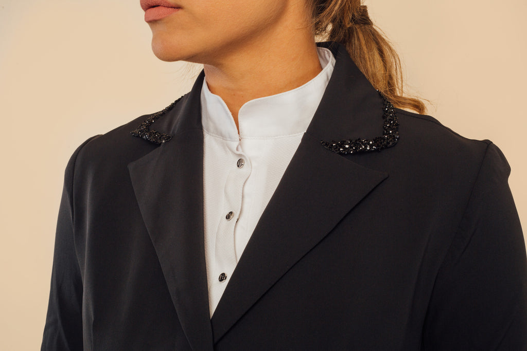 Camille Black Show Jacket and Black Crystal Frame