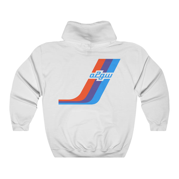 2002GW Huge Turbo Stripe Hoodie - Back
