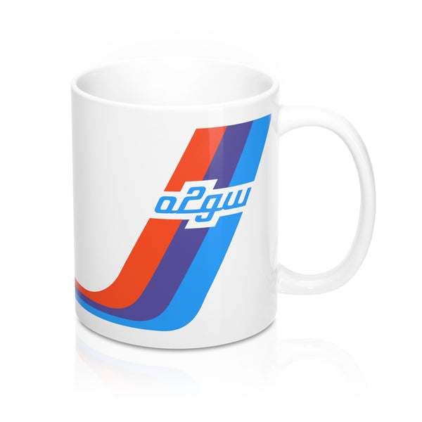 2002GW Turbo Stripe Mug - White