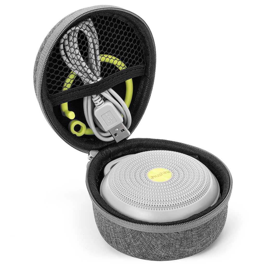 Hushh White Noise Machine with Travel Case | Yogasleep