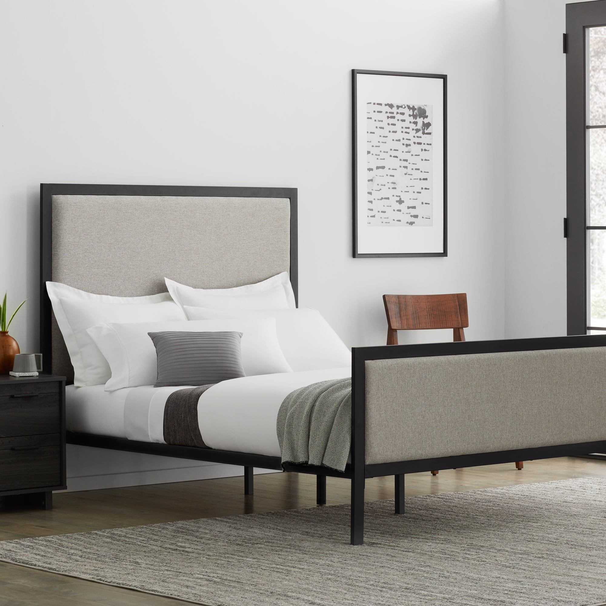 Designer Clarke Bed King Oat - Yogasleep by Malouf