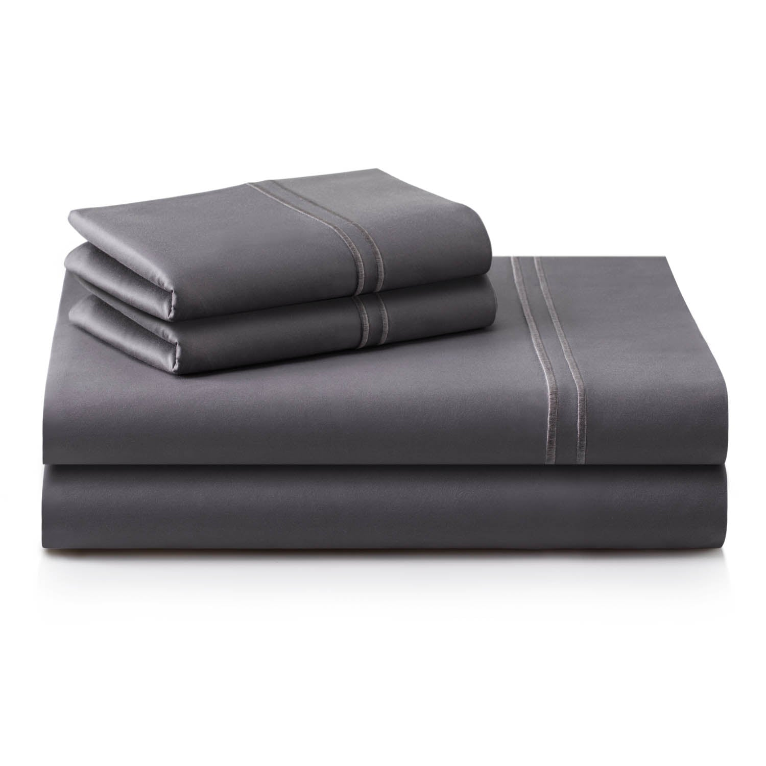 Supima Cotton Sheets Cal King Charcoal - Yogasleep by Malouf