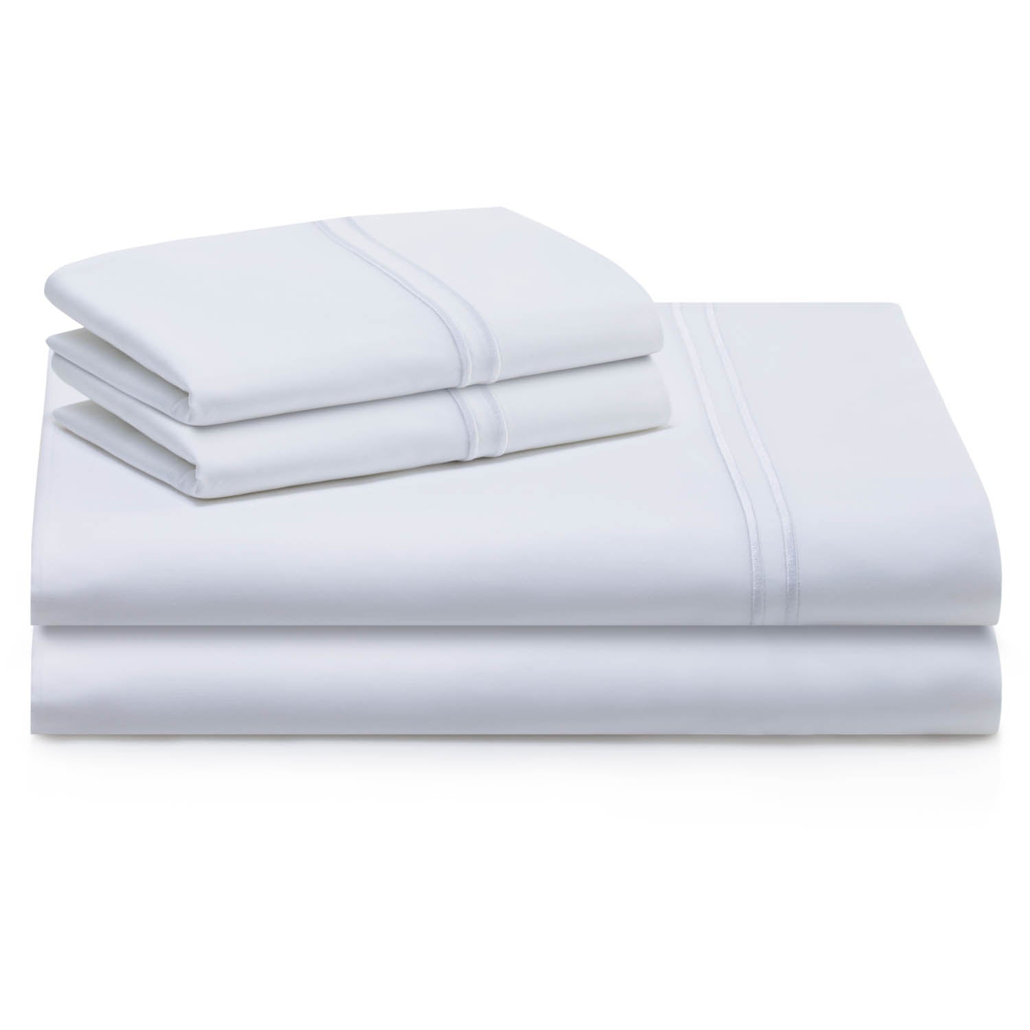 Supima Cotton Sheets Cal King White - Malouf by Yogasleep