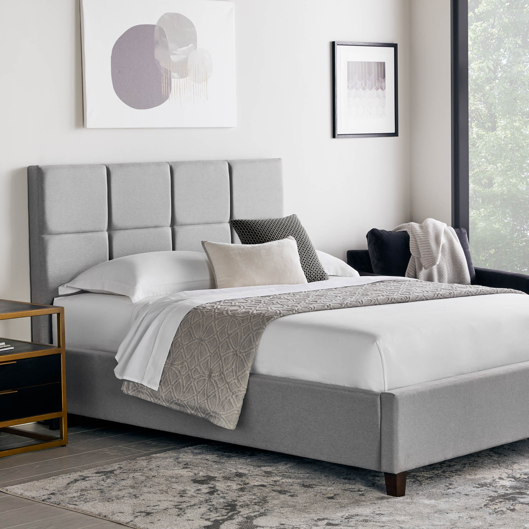 Yogasleep by Malouf Scoresby Designer Bed Stone - Yogasleep by Malouf