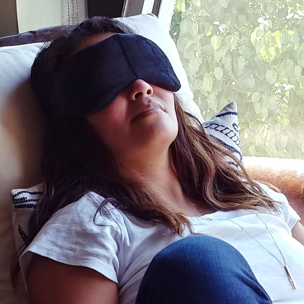 Reversible Velour Weighted Eye Mask from Yogasleep