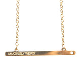 AMAZINGLY WEIRD GOLD BAR NECKLACE  - Jaeci Jewlery