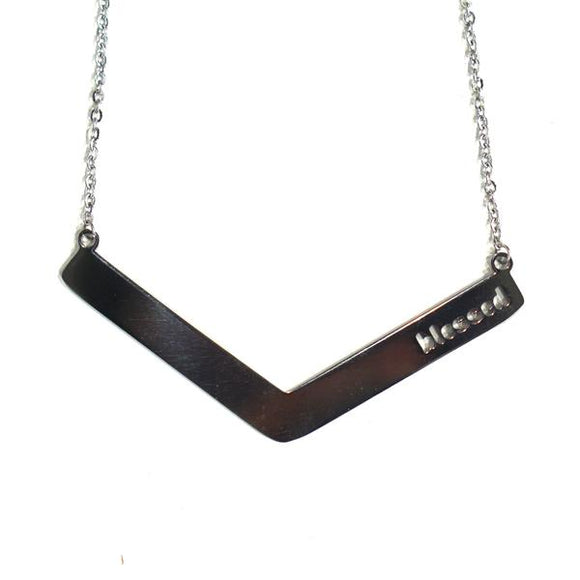 Blessed Angle Bar Necklace