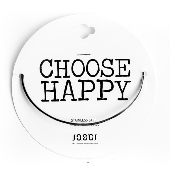 CHOOSE HAPPY DELICATE BANGLE