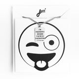 Emoji Wink Necklace