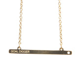 GOAL DIGGER GOLD BAR NECKLACE  - Jaeci Jewlery