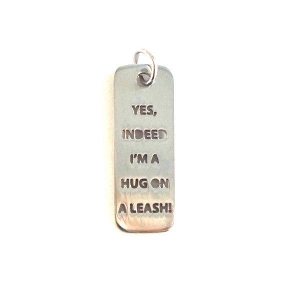 HUG ON A LEASH DOG TAG