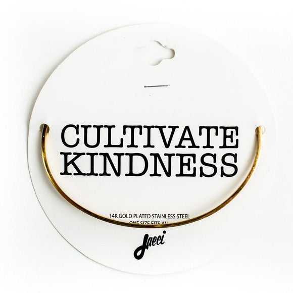 CULTIVATE KINDNESS DELICATE BANGLE