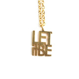Delicate Let it Be Necklace  - Jaeci Jewlery