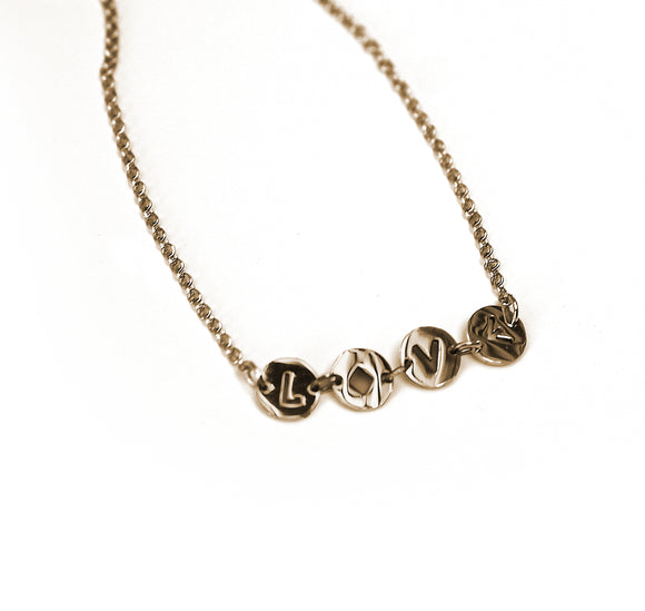 Live Obediently & Value Everyone Dainty Acronym Necklace