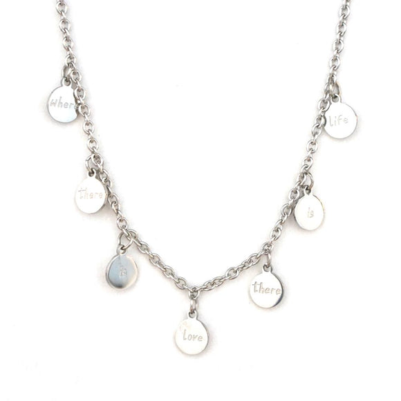 LOVE LIFE CIRCLE CHAIN NECKLACE
