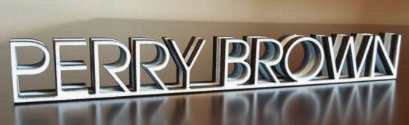 Custom Cutout Name Plate