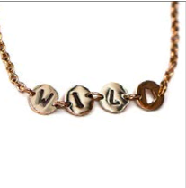 When I Live Daringly Dainty Acronym Necklace