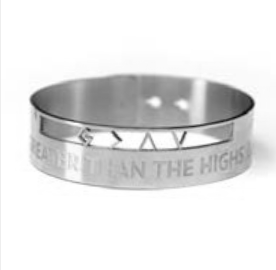 God Is Greater Than The Highs & Lows Cutout Bracelet
