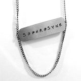 Sophrosyne Word Cloud Cutout Necklace  - Jaeci Jewlery