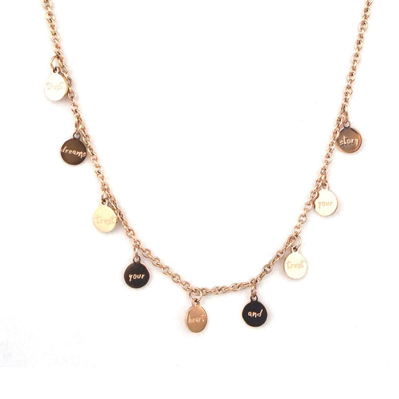 TRUST CIRCLE CHAIN NECKLACE