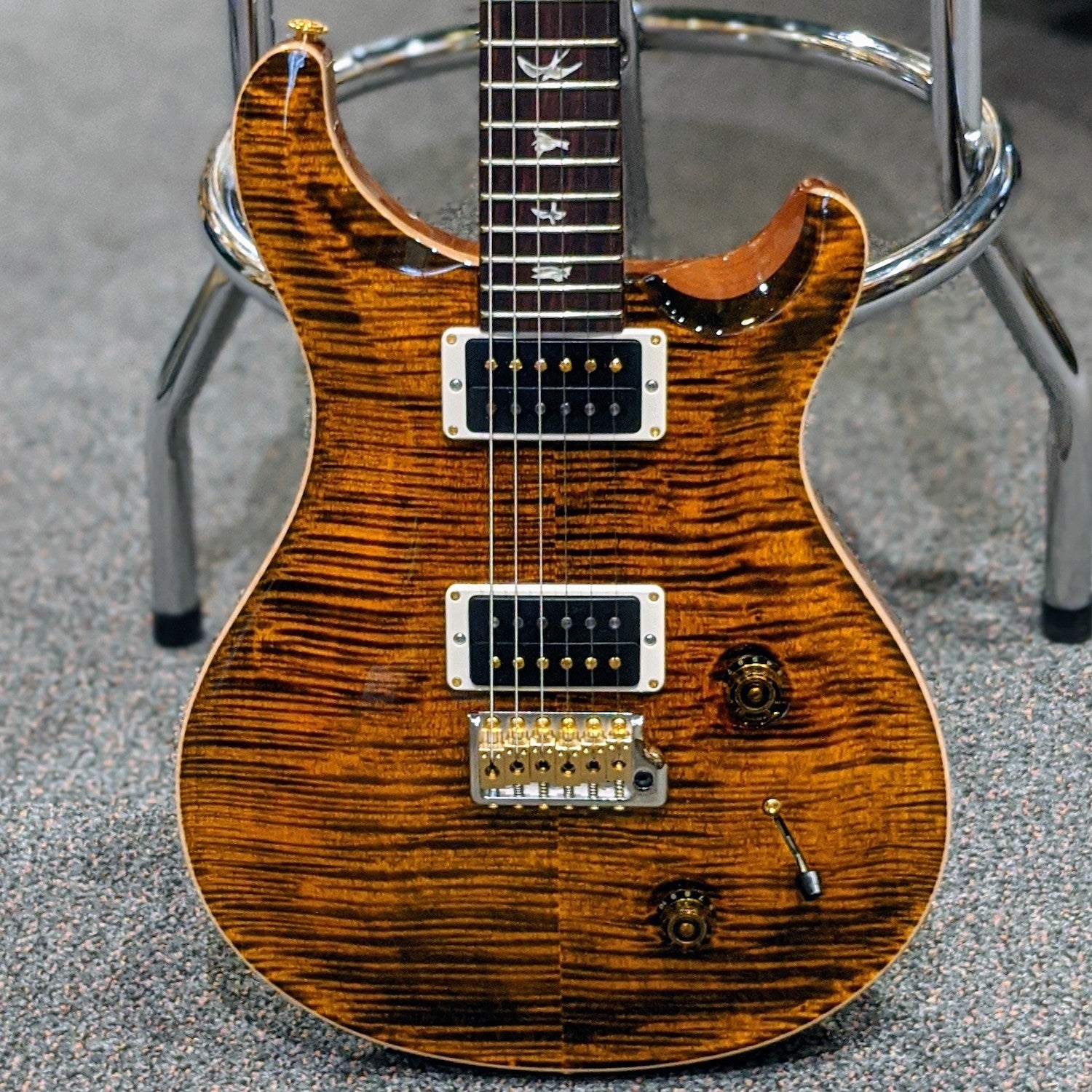 PRS Custom 22 Pattern Neck 10 top Yellow Tiger