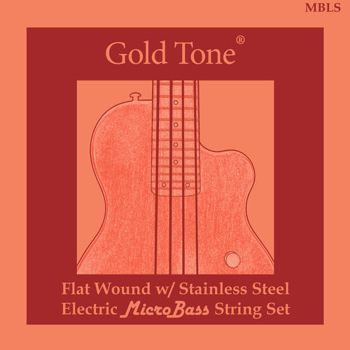 Gold Tone MBLS MicroBass La Bella Flatwound strings