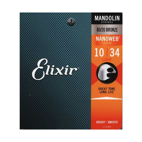 Elixir 16002 Acoustic Nanoweb Phosphor Bronze Strings, Extra-Light 10-47