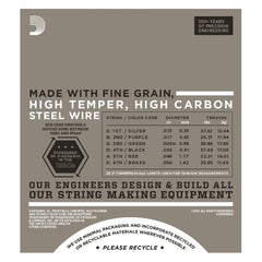 D'Addario EHR360 Half Round Electric Guitar Strings, Jazz Medium, 13-56