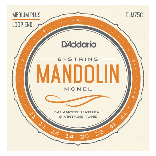 D'Addario EJM75C Monel Mandolin Strings, Medium Plus, 11-41