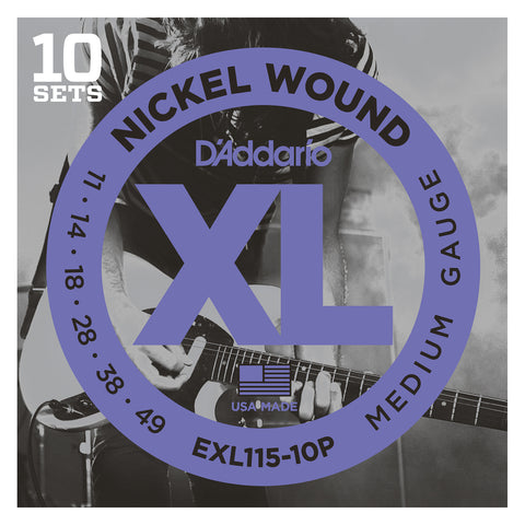 D'Addario NYXLS45130 Nickel Wound Bass Guitar Strings, 5-string Regular Light, 45-130, Double Ball End, Long Scale