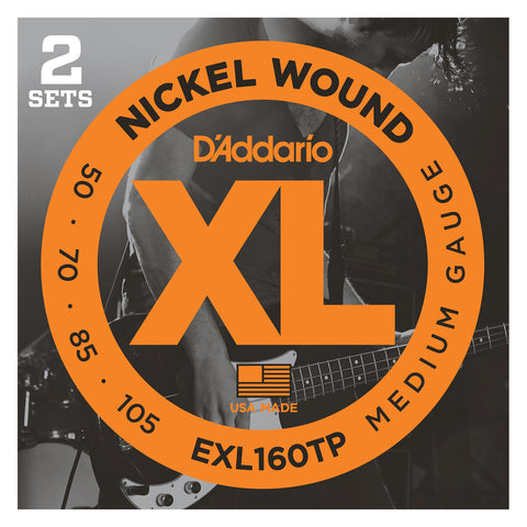 D'Addario ECB81M Chromes Bass Guitar Strings, Light, 45-100, Medium Scale