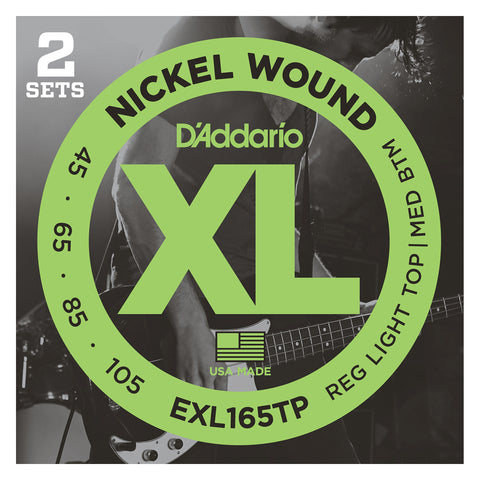 D'Addario NYXL32130 Nickel Wound Bass Guitar Strings, Regular Light 6-String, 32-130, Long Scale