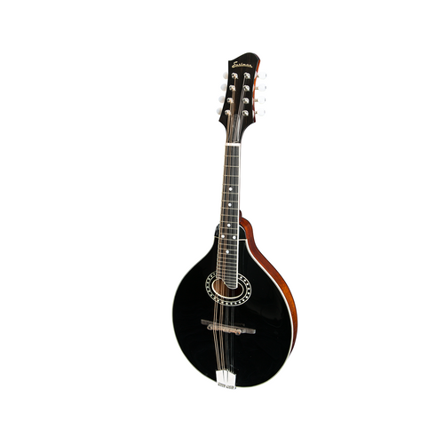 Eastman MD404 BK A-Style O-Hole Mandolin-Black