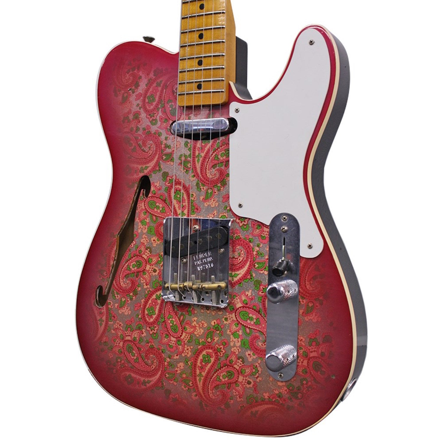 Fender Custom Shop Ltd Edition Roasted Pine Double Esquire Journeyman Relic Pink Paisley