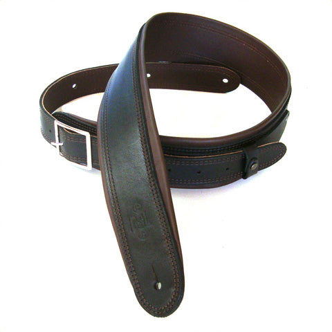 DSL 2.5'' Rolled Edge Buckle Black/Brown Strap