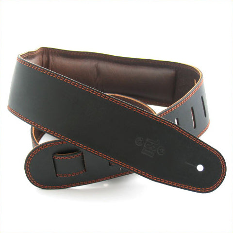 DSL 2.5'' Padded Garment Black/Brown Strap