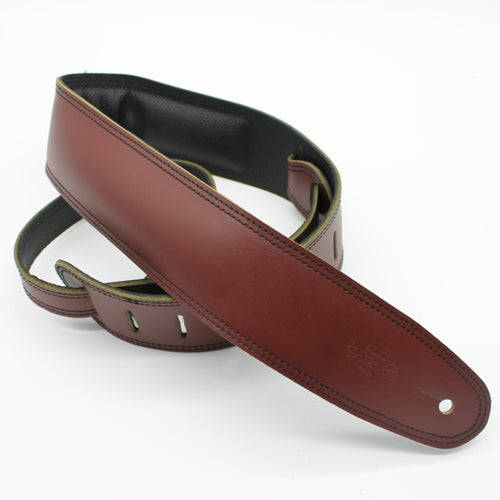 DSL 2.5'' Padded Suede Maroon/Black Strap