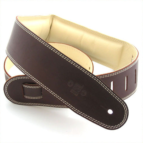 DSL 2.5'' Padded Suede Saddle Brown/Beige Strap