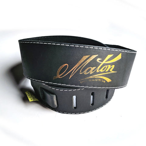Maton Leather Acoustic Strap Deluxe Black