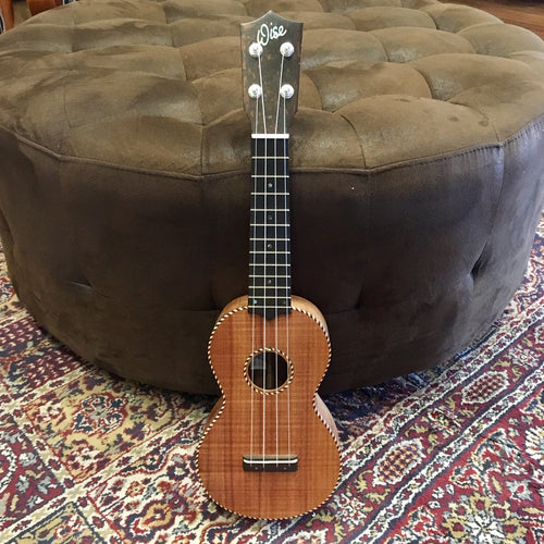 Scott Wise Hand-Made Soprano Ukulele Rope Binding