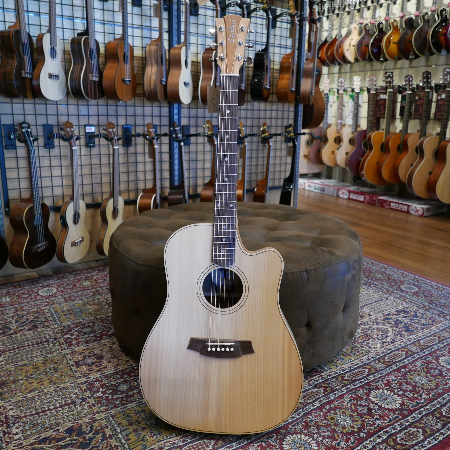 Cole Clark FL2EC-BBR Bunya Blackwood Rosewood Bridge and Fingerboard Upgrade