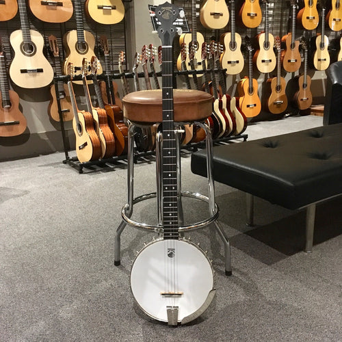 Deering Boston Long Neck Open Back Banjo Left Hand w/Case - Used