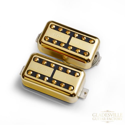 Lollar Lollartron Humbucker Gold, 2-Pickup Set