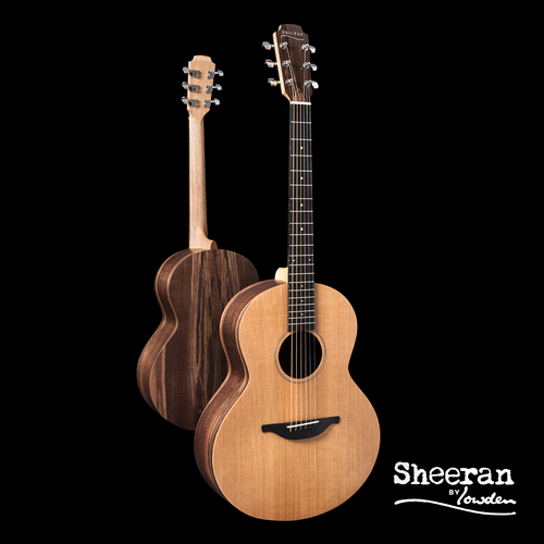 Sheeran by Lowden S01 Solid Cedar Top, Walnut back and sides, No pickup